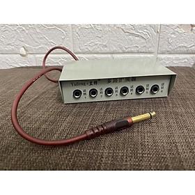 Bộ chia 6 cổng Micro chân 6,5mm cho amply loa kéo hội nghị mixer