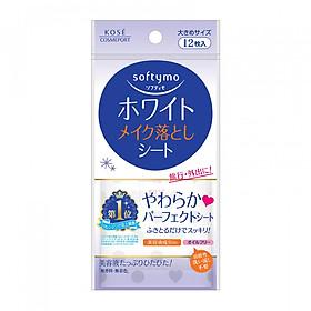Khăn Giấy Tẩy Trang Kosé Cosmeport Softymo White Cleansing Sheet B (White) 12 Miếng