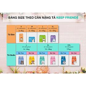 Tã quần nội địa Hàn Quốc Enblanc Keep Friend size 4 bé gái (L 26 miếng)-1