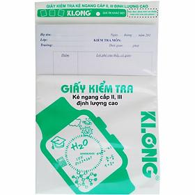 Giấy kiểm tra cấp II, III chất lượng cao B5; Klong 277