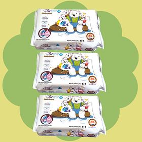 Combo 3 gói Khăn ướt làm sạch tinh khiết dành cho bé Oma&Baby với công thức Chlorhexidine Digluconate kháng khuẩn an toàn, dịu nhẹ trong khăn ( 3 gói 85 tờ ) - Combo 3 packages of  Oma&Baby premium baby wet wipes ( 85 sheets per package)