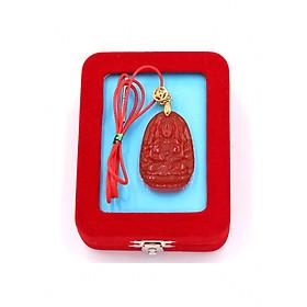 Hình đại diện sản phẩm Vòng cổ phật Thiên Thủ Thiên Nhãn - thạch anh đỏ 3.6cm DOTOB8 - dây dù đỏ - kèm hộp nhung - tuổi Tý