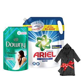 [Tặng áo mưa cao cấp] Combo Nước Giặt Ariel Khử Mùi Ẩm Mốc 2.15kg và Nước Xả Vải Downy 1.5L Phơi Trong Nhà
