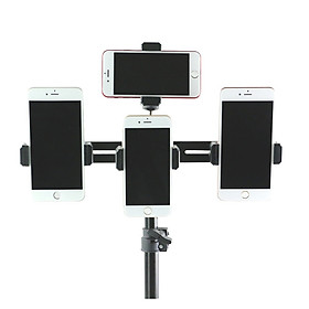 Phụ kiện thanh nối đa năng gắn đến 4 điện thoại lên tripod hỗ trợ livestream, quay video nhiều điện thoại cùng lúc
