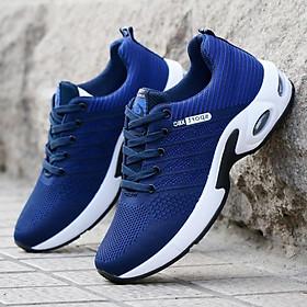 Giày thể thao buộc dây Giày sneakers thể thao nam  Giày thể thao vải thoáng khí   Màu đen Màu xanh G89 - Xanh - 42