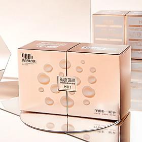 Kem nền che khuyết kháng nước dưỡng ẩm da HIH Beauty Cream Tặng kèm bông đánh phấn