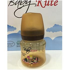 Bình sữa bằng nhựa PP Baby Kute cổ rộng 140ML chống sặc nhập khẩu từ Thái Lan