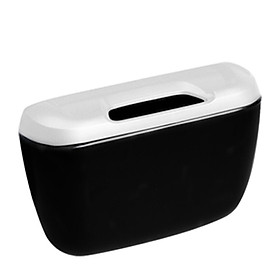 Love ant ianttek AT-06 car garbage bin glove box car storage box car trash can be attached to the door black silver
