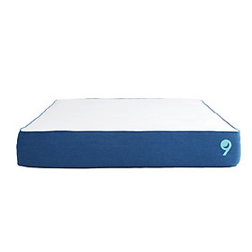 Nệm Foam Cao Cấp Ru9 Original 25cm Trắng Xanh, 3 Lớp Foam Nâng Đỡ Cơ Thể Tối Ưu