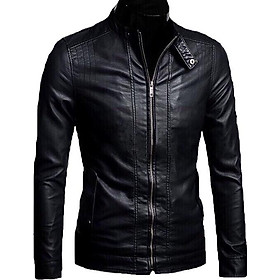 Áo Khoác Da Nam Đen Black Leather Cao Cấp AKD21