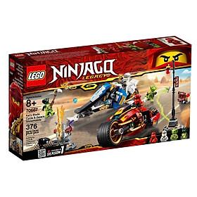 Đồ Chơi Xếp Hình LEGO Mô Tô Lưỡi Kiếm Của Kai Và Mô Tô Băng Giá Của Zane 70667