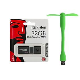 USB 32gb Kingston DT100G3 USB 3.0 - Hàng Chính Hãng + Tặng kèm quạt USB 2 cánh
