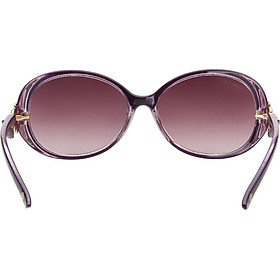 Love (LianSan) Polarized Sunglasses Women's Large Frame Fashion Facial Color Rhinestone Korean Driving Mirror sunglasses GD103 Purple Polarized