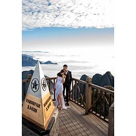 Chụp ảnh cưới tại Hồng Linh Studio-Voucher gói chụp ảnh cưới tại Sapa (SPINEL BLUE).