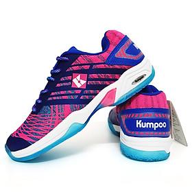 Giày bóng chuyền, bóng bàn nam nữ D52 màu xanh hồng - Phân phối chính hãng