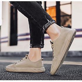 Giày Lười Nam Vải Denim Khâu Siêu Bền Thời Trang Nam VNS-C22 Đế Cao Su Nguyên Khối, Vải Thoáng Khí Lót Cotton Thấm Mồ Hôi Khử Mùi Tự Nhiên