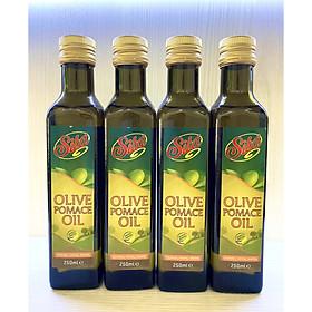 Combo 4 Chai Dầu Oliu Pomace Cao Cấp Nhãn Hiệu Sita' 250ml Nhập Khẩu Ý Dùng trong Nấu Ăn, Trộn Salat, Làm Đẹp - Olive Pomace Oil 250Ml Sita' (Dầu ăn), (Dầu Dưỡng Da)