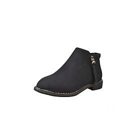 Giày Boot Nữ Kiểu Hàn Quốc Yamet SD59V689B Black