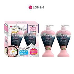 Combo 2 Kem đánh răng Bamboo Himalaya Pink Salt Floral Mint Hương Hoa Bạc Hà 285gx2