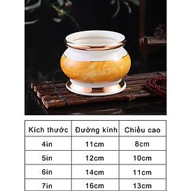 Lư Hương (Bát Hương) Thờ Cúng Vân Vàng Đá Hoa Cương