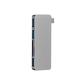 5IN1 Multi-port USB-C HUB to USB 3.0 Type-C Converter Adapter SD TF Card Reader Plug & Play