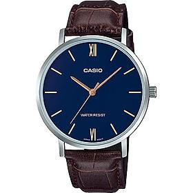 Đồng hồ Casio nam dây da MTP-VT01L-2BUDF (40mm)