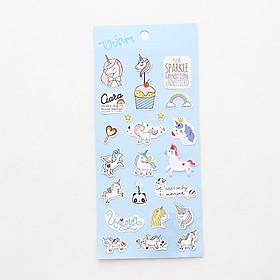 Bộ hình dán sticker Kỳ Lân đáng yêu Unicorn