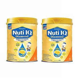Bộ 2 Lon Sữa bột NUTI IQ Diamond số 1 cho trẻ từ 0-6 tháng - 900g