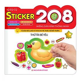208 Miếng Dán Hình Thông Minh - IQ - EQ - CQ: Thử Tài Bé Yêu