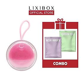 Combo Máy Rửa Mặt Và Massage Da Mặt Cho Da Nhạy Cảm Halio Sensitive - Hồng Nhạt & 2 Mặt Nạ Green Tea và Acai Berry