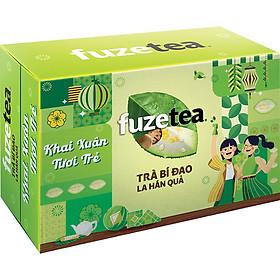 Thùng 24 lon Trà Bí Đao La Hán Quả Fuzetea+ Lon (320ml x 24)
