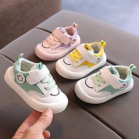 Giày cho bé trai bé gái 1 - 3 tuổi mặt cười ngộ nghĩnh da mềm đế chống trơn GE65