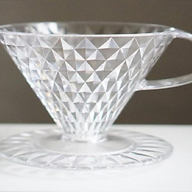 PHỄU PHA CÀ PHÊ KEY COFFEE CRYSTAL DRIPPER V60-02 JAPAN