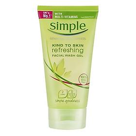 Sữa Rửa Mặt Dạng Gel Simple Kind To Skin Refreshing Facial Wash Gel Dành Cho Da Nhạy Cảm (150ml) [ Được Mask 3W Clinic ]