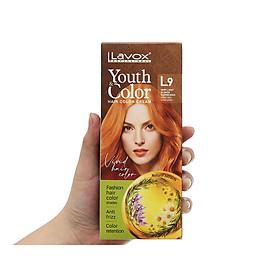 Kem nhuộm màu tóc cao cấp Lavox Youth&Color L9 (Đồng Ánh Vàng Sáng)