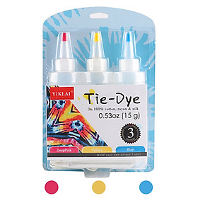5 Colors DIY Tie Dye Kits Fabric Dye Set Fabric Paint 120ml/bottle with Rubber Bands Gloves Self-Sealing Bag Apron for