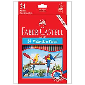 Chì Màu Nước Parrot - 24 Màu Dài - Faber-Castell 114464