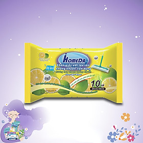 Khăn ướt lau sàn kháng khuẩn tiện dụng IHomeDa - Hương Cam ( 10 miếng ) - iHomeda anti bacteria floor and kitchen wet wipes - Orange Lime Scent ( 10 sheets per package)