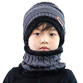 Mũ len kèm khăn quảng cổ NSTM cho bé