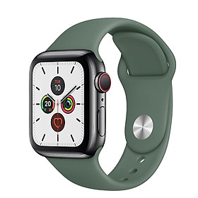 Dây đeo silicon màu Pine Green cho Apple Watch 38mm / 40mm / 42mm / 44mm