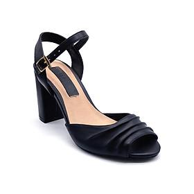 Giày Sandal Gót Vuông Quai Kiểu Sulily SGV2-I17DEN