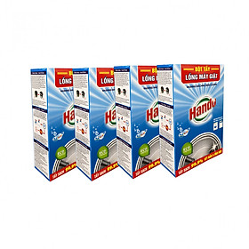 Combo 4 hộp 8 gói x100g bột tẩy lồng máy giặt Hando