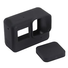 Vỏ cao su silicon chống sốc cho GoPro Hero 6 5 black_Tặng kèm cáp đậy