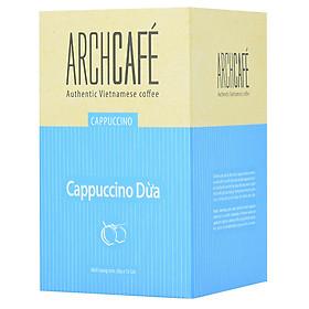 Cà phê Cappuccino Dừa - Cafe hoà tan Archcafé (hộp 12 gói x 20g)