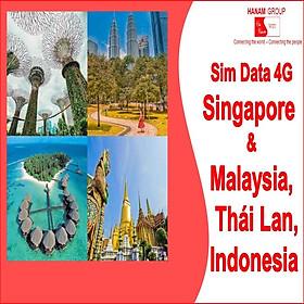 Sim Data 4G Singapore - Thái Lan - Indonesia - Malaysia Không Giới Hạn Dung Lượng
