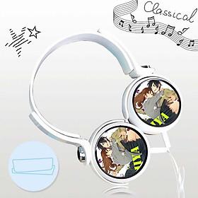 Tai nghe in hình HORIMIYA anime chibi dạng chụp cắm dây có mic tặng ảnh nhỏ gọn tiện lợi thời trang