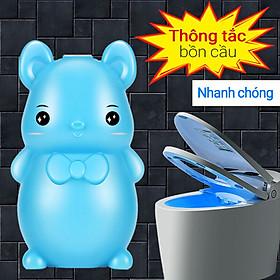 Chú gấu màu xanh khử mùi làm sạch bồn cầu, tẩy rửa nhà vệ sinh khử mùi nước tiểu bụi bẩn nhà vệ sinh - Diệt Sạch 99,9% Vi Khuẩn Xuất Xứ Nhật Bản
