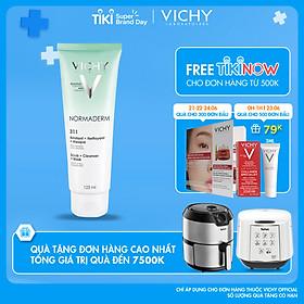 Kem Rửa Mặt Tẩy Tế Bào Chết Ngừa Mụn Kiêm Mặt Nạ Thanh Lọc Vichy Normaderm 3in1 Scrub + Cleanser + Mask 125ml