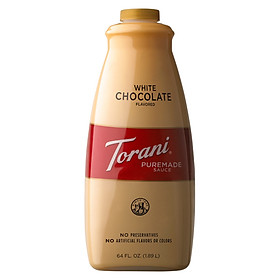 Sốt Torani PureMade Chocolate Trắng - White Chocolate Syrup 1,89 lít