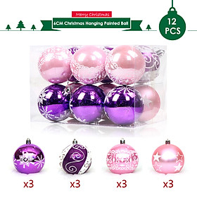 Christmas Hanging Ball Painted Ball 6cm 12PCS for Xmas Ornaments Christmas Tree Decoration Deco Home Party Daily Use